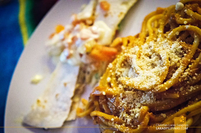 Spaghetti and Quesadillas at Cafe Lupe Antipolo