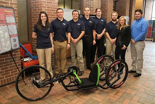 Hand-Crank Cycle Design Team with project