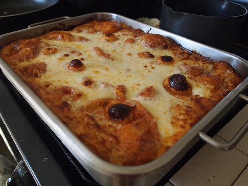 Christmas Lasagna 2013 fresh out of the oven