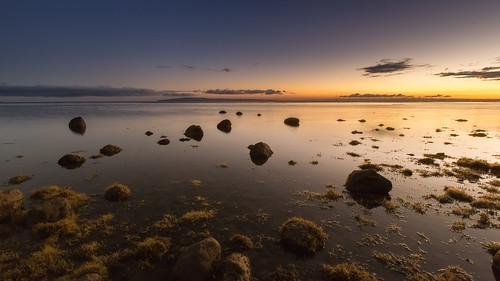 ocean sunset seaweed night clouds hawaii rocks maui clear eveningsky olowalu kahoolawe