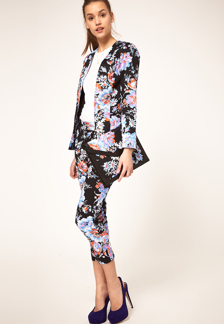 ASOS PETITE Floral Print Blazer