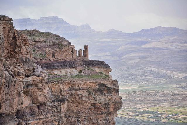 Construcción abandonada en Jabal Haraz. Montañas Haraz. Yemen