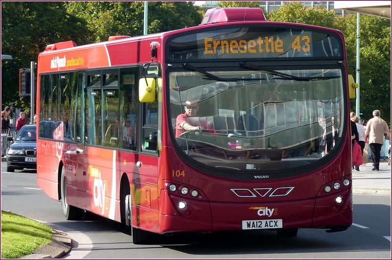 Plymouth Citybus 104 WA12ACX