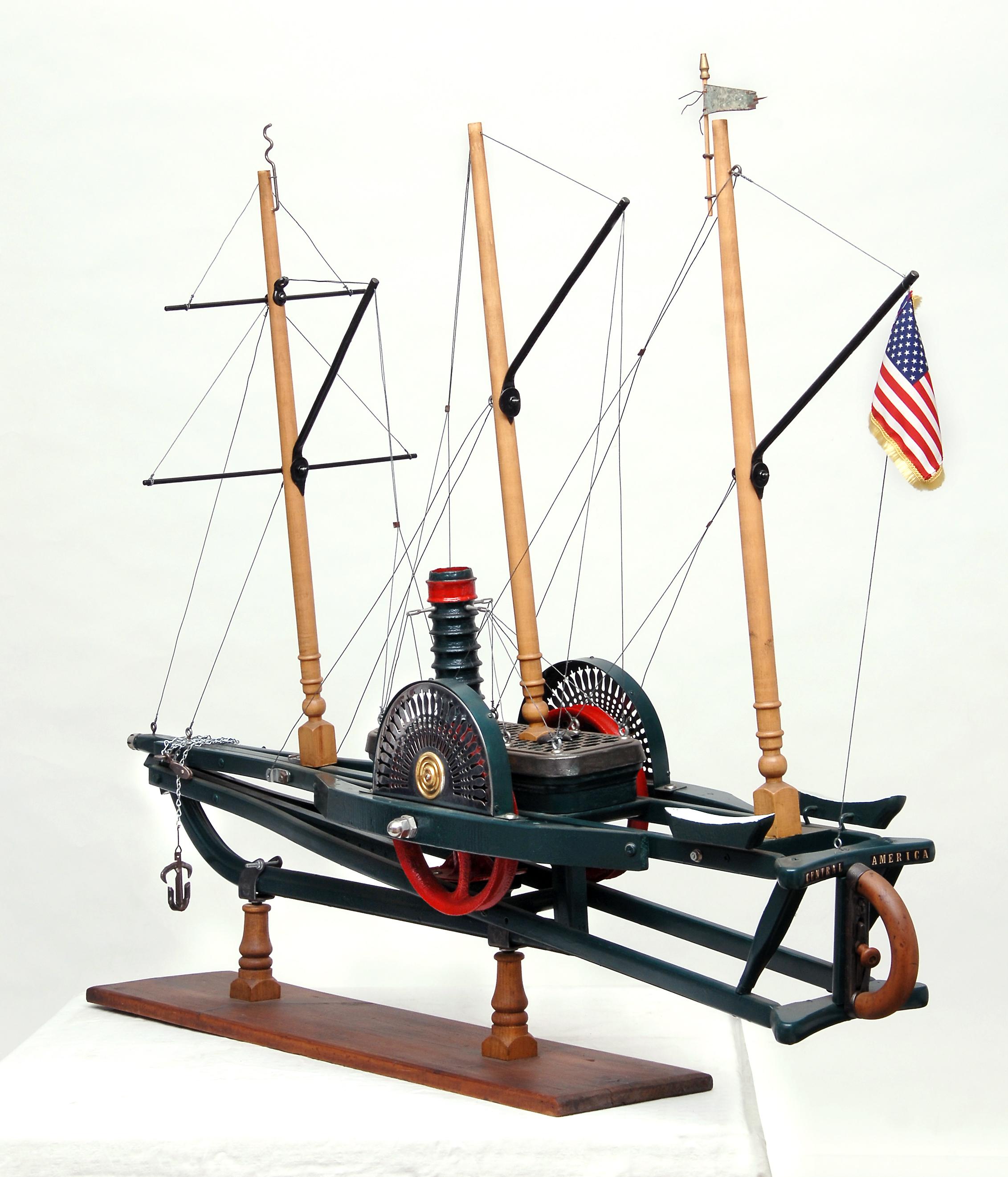 Sidewheel Schooner Central America Rear