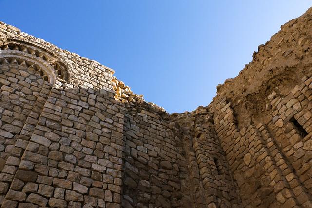 Walls in the Palace of Ardashir, Iran アルダシール宮殿の壁