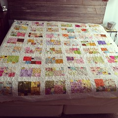 Heather Ross Quilt done...now baby can come!