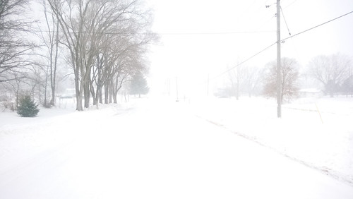 10 mile run with 10 mph winds and +5°F degree wind chill. in. a. snow storm. II.