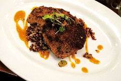 Crispy Eggplant with Red Quinoa