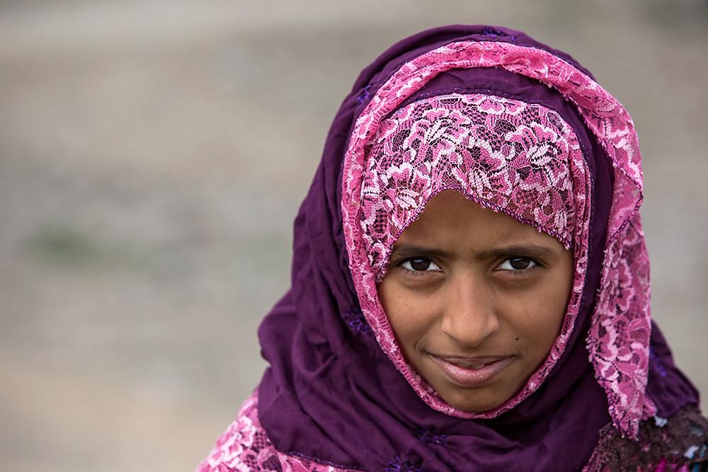 Portrait of a girl in Jebel Akhdar, Oman.
