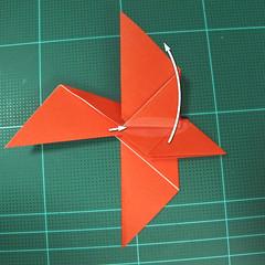 การพับกระดาษเป็นนกพิราบ (Origami pigeon) 00028