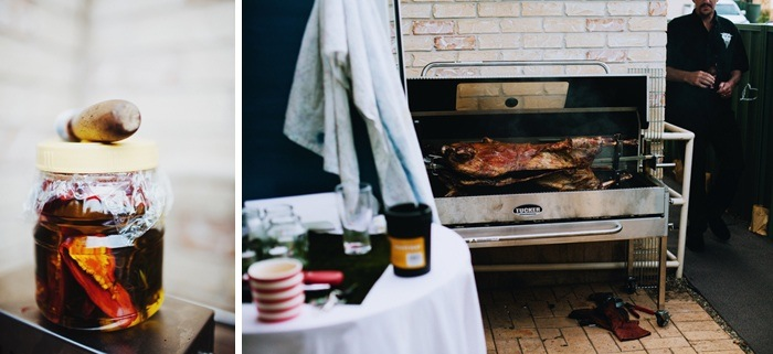 Backyard Wedding - spit roast lamb