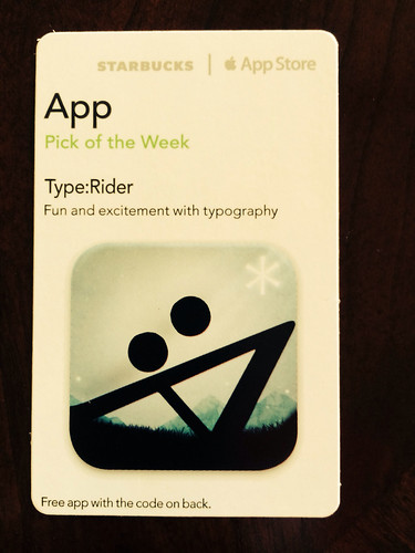 Starbucks iTunes Pick of the Week - Type:Rider