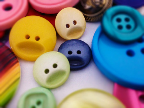 buttons and faces