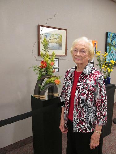 Mama at the art show