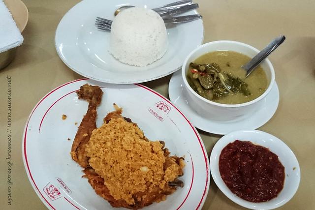 Ayam Goreng Goreng at NY Suharti, Yogyakarta - with white rice