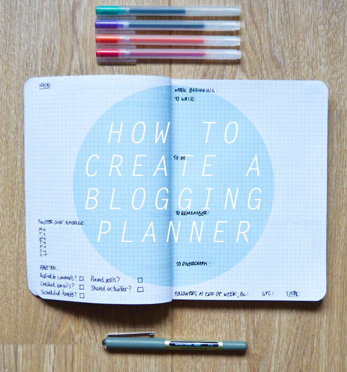 how to make a blogging planner
