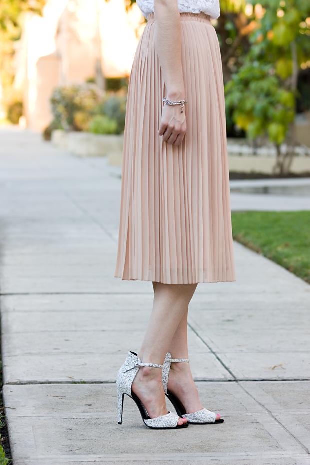 J.Serene, Pleated Midi Skirt