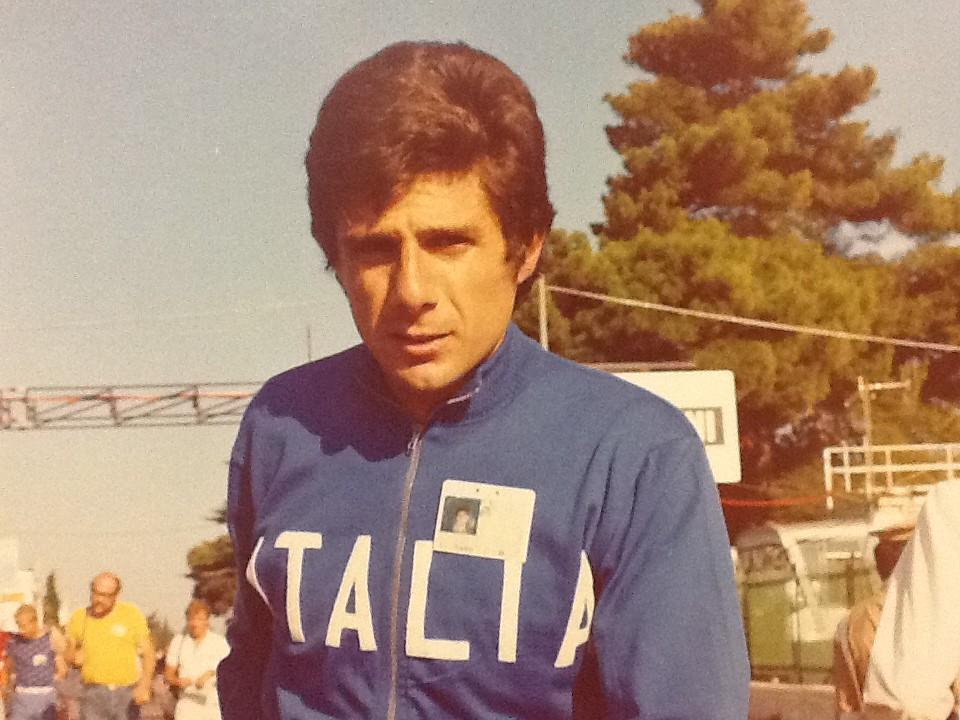 Marcello con la tenuta della nazionale italiana
