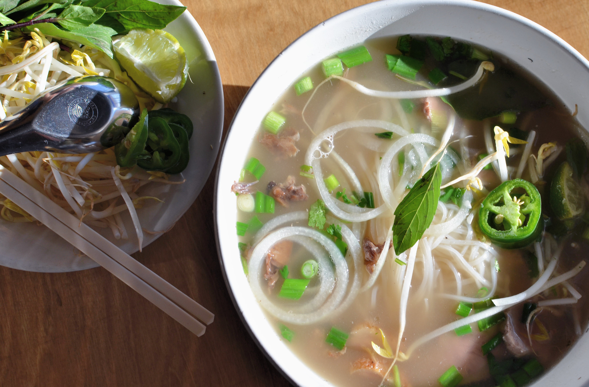 Duck Pho | The signature pho from NGON features Wild Acres d ...