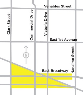 Map for the Broadway-Commercial Sub-Area