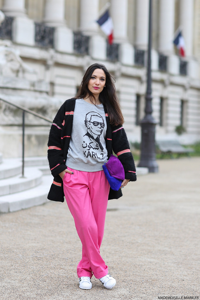 Sofya Benzakour at Paris Fashion Week Haute Couture- street style