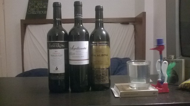 Botellas de vino español