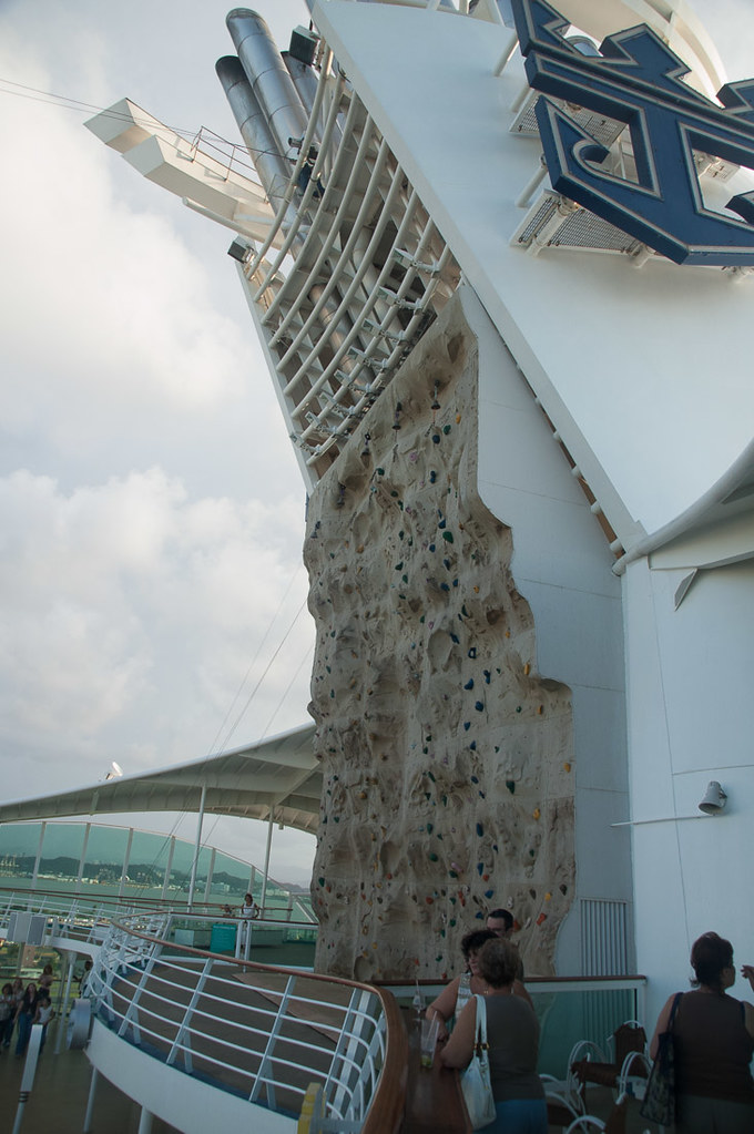 Rock Climbing Wall on Royal Caribbean | Adventure of the Seas