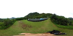 From the scenic lookout on the Pali Highway above Kailua, O'ahu - a 360 degree Equirectangular VR
