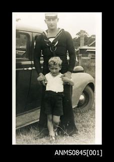 Able Seaman Arthur Thomas Wood and unknown boy