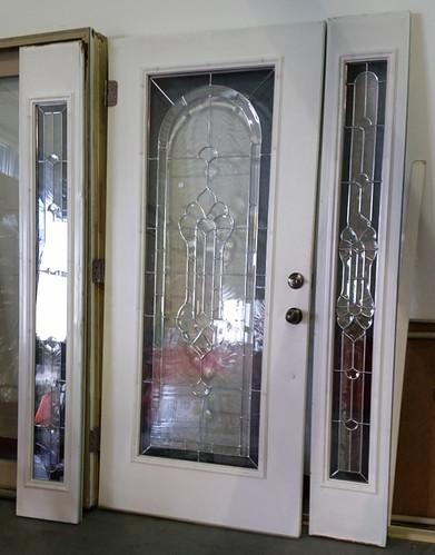 Leaded glass door set $295