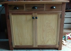 Hallway Cabinet. Mixed recycled timbers
