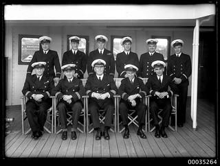Officers of TSS AWATEA at East Circular Quay