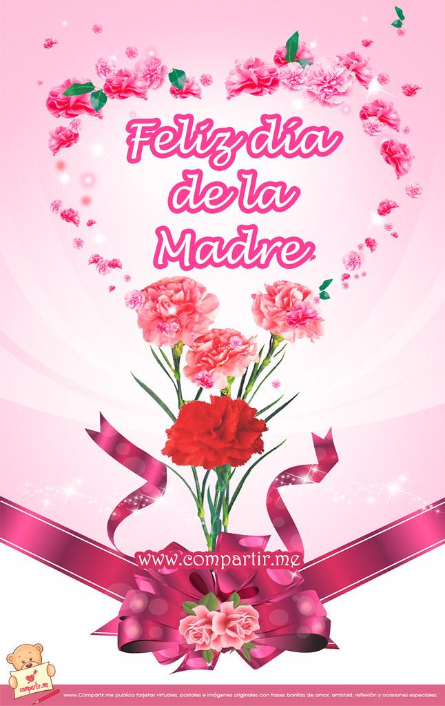 Frases De Amor Bonita Tarjeta Para El Facebook Con Flores Flickr