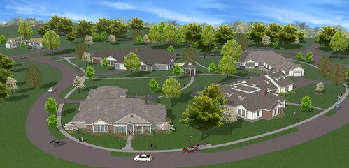 An architect's drawing of the new facility. Photos courtesy of Christian Care Communities.  Used with permission.