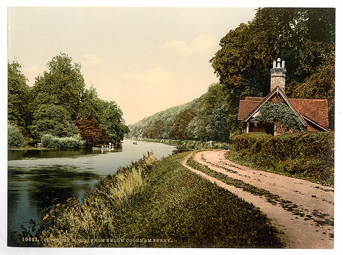 [Cliveden from below Cookham Ferry, London and suburbs, England]  (LOC)