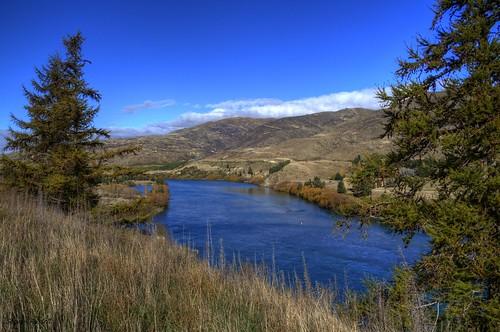Waitaki River & Valley South Island  New Zealand