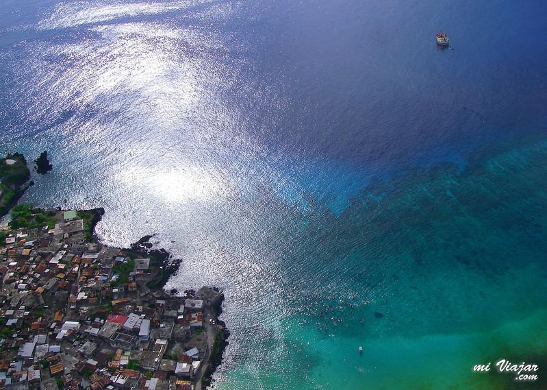 Vista aérea del mar, África