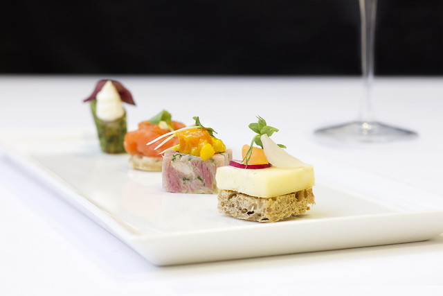 A selection of canapés © Royal Opera House Restaurants 2013