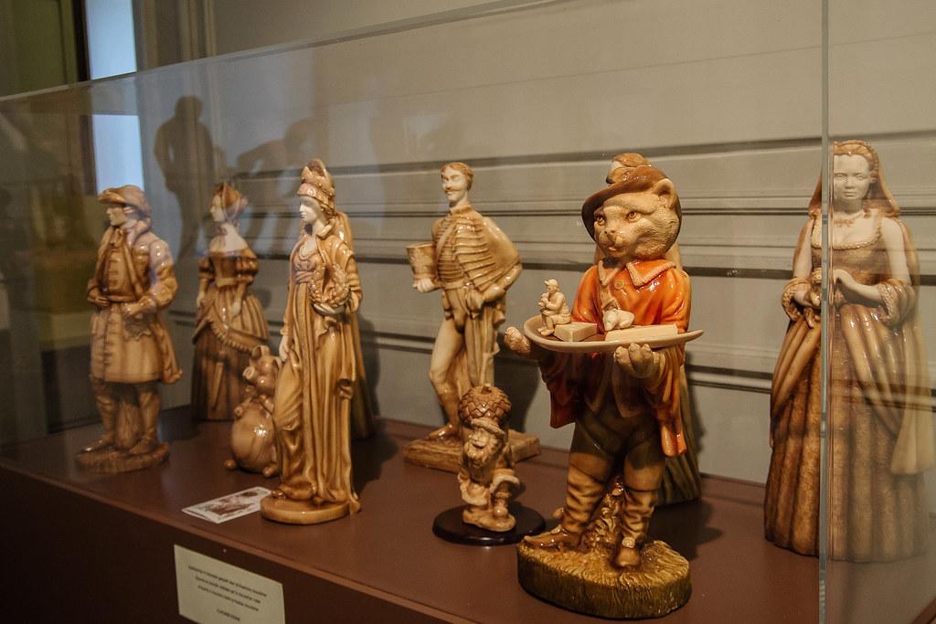 פסלים משוקולד לבן