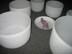 Lilac and Crystal Bowls