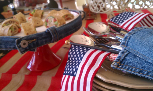 Summer Tablescape, 4th of July,red white and blue tablescape, Memorial Day Table decor, 4th of July table decor,  Red white and Blue