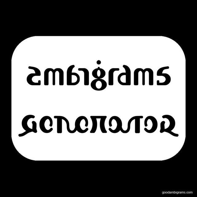 Tattoo Word Generator: Ambigram Generator Mirror Tattoo