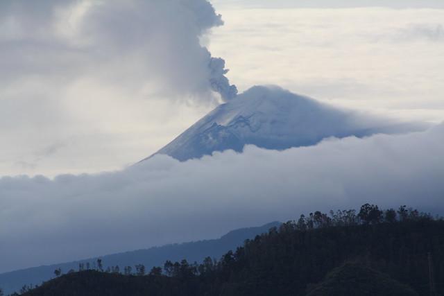 La furia del volcán