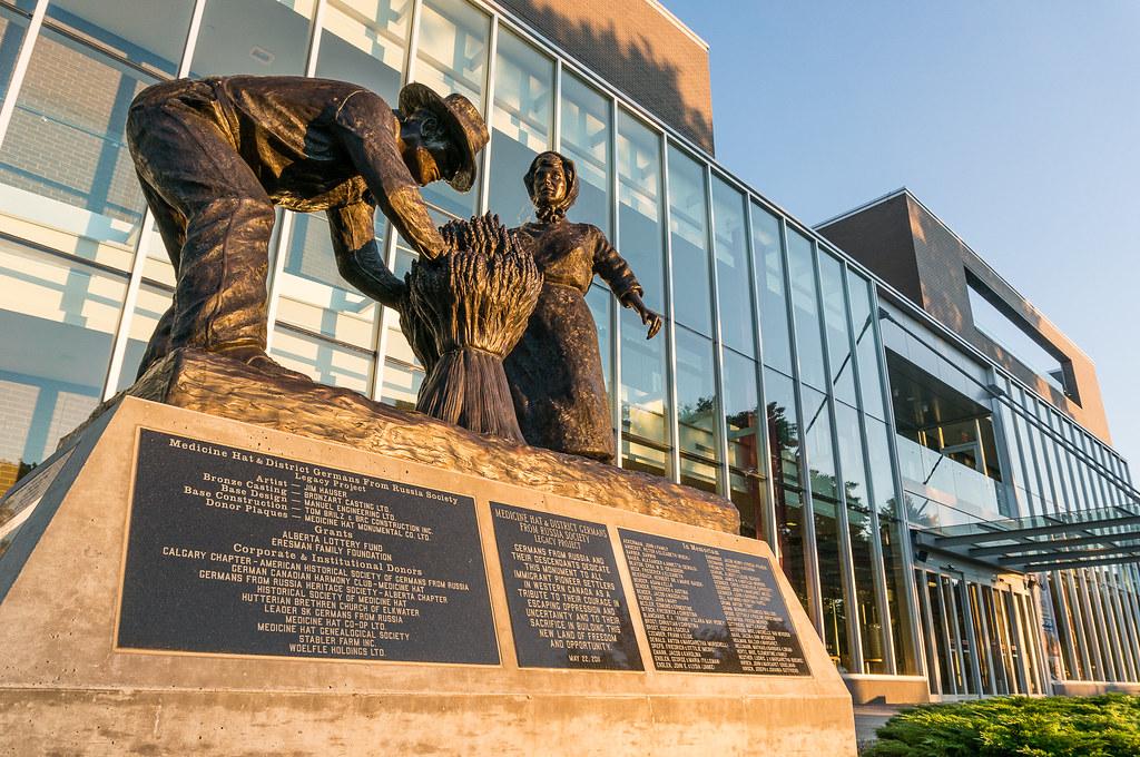 Monument in Medicine Hat, Alberta
