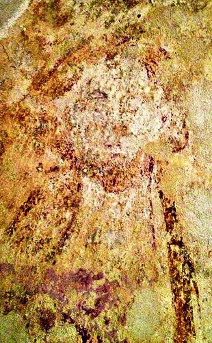 Medieval crypt fresco, Duntisbourne