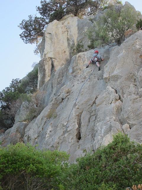 Nick Leading a Climb on Cala Fuili