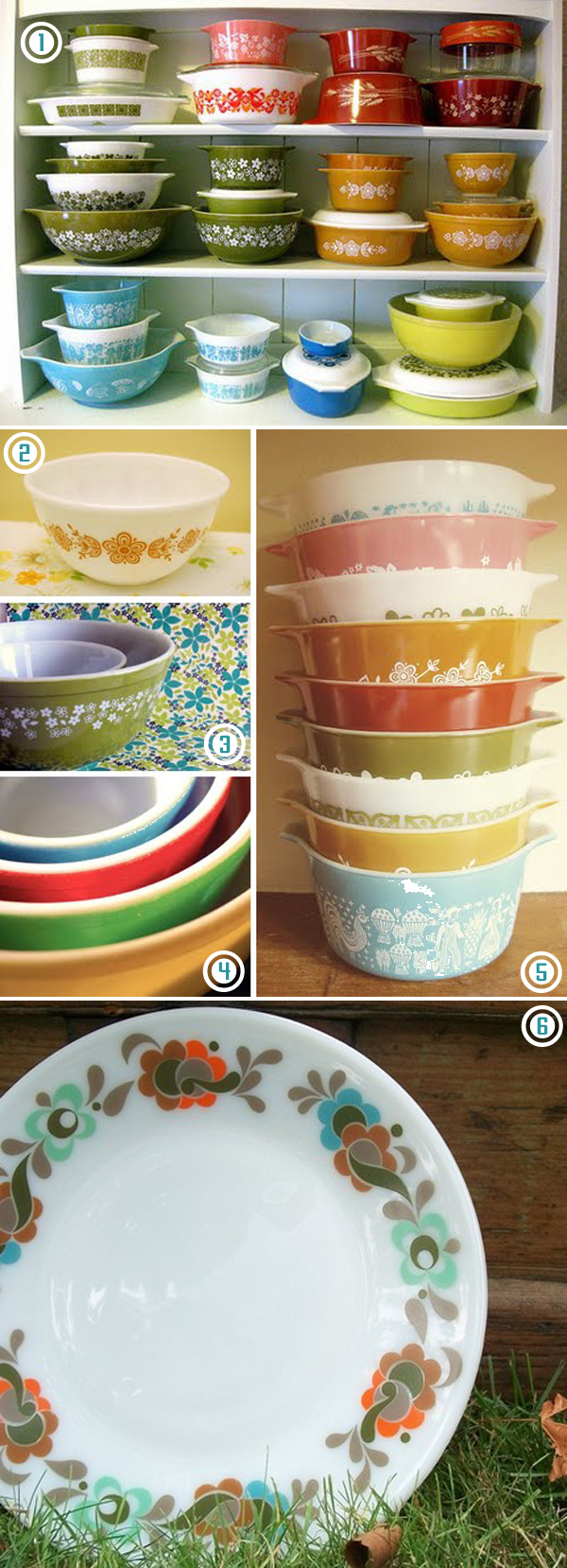 One day I shall have my own collection of colourful vintage pyrex, mark my words! | Emma Lamb