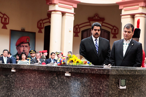Así fue la visita de Maduro y Correa al Cuartel de la Montaña