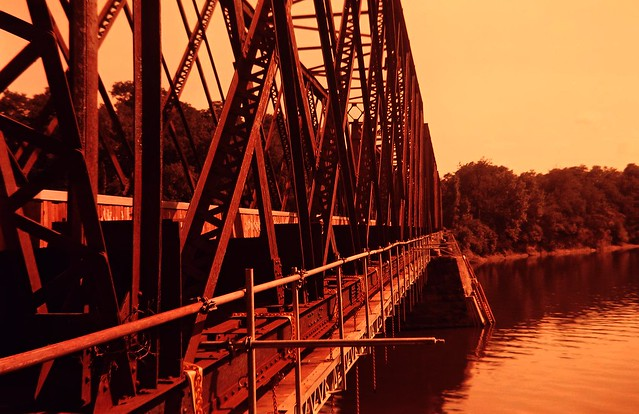Black Bridge in redscale