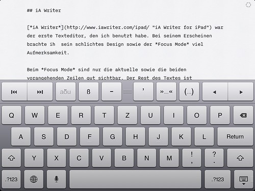IA Writer in Aktion